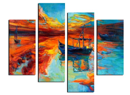 the-framed-multi-panels-abstract-canvas-printing-in-line-theme