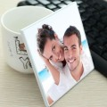square customizable photo ceramic drink coasters