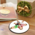 round personalised photo ceramic drink coasters