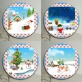 sets of round custom ceramics drink coasters